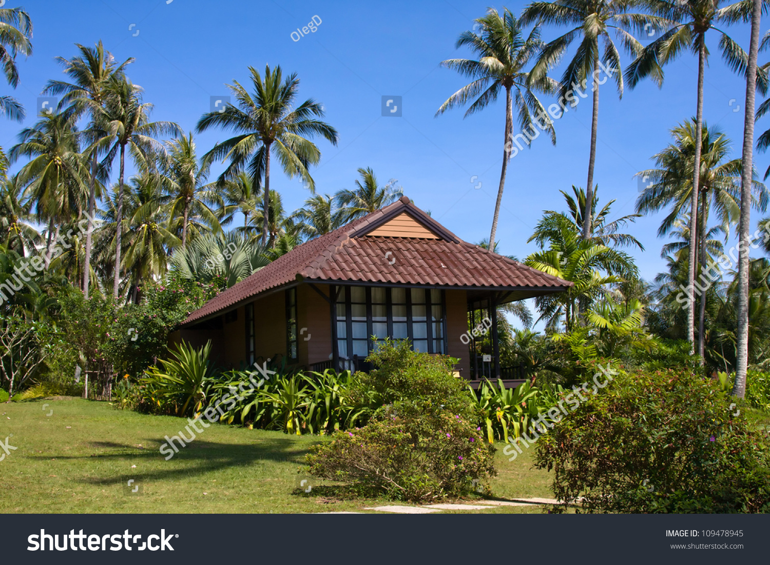 Tropical Island Beach House: Tropical Beach House On Island Koh Stock Photo 109478945