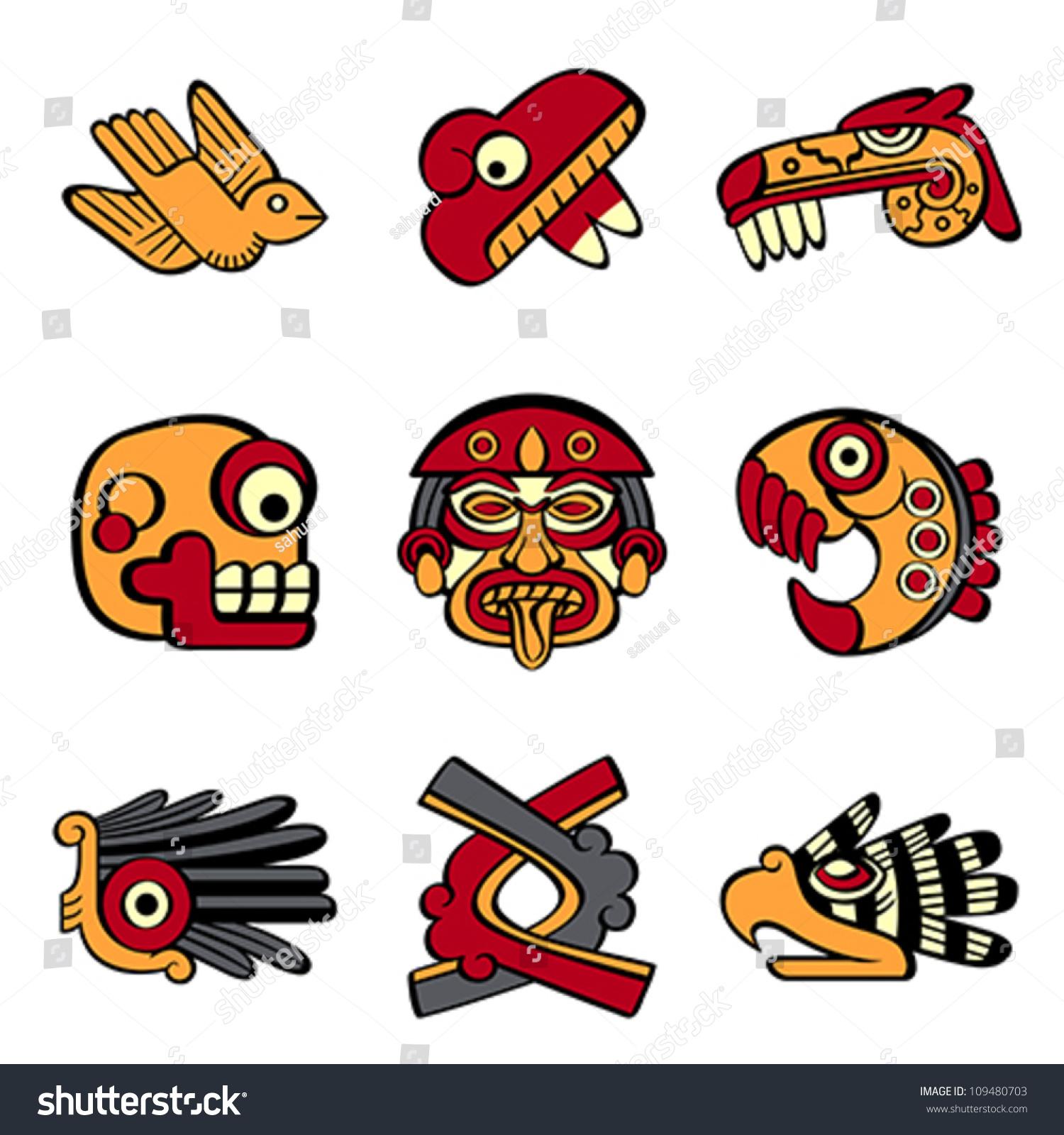 Aztec animal abstract symbols stock vector 109480703 shutterstock aztec animal and abstract symbols biocorpaavc Gallery