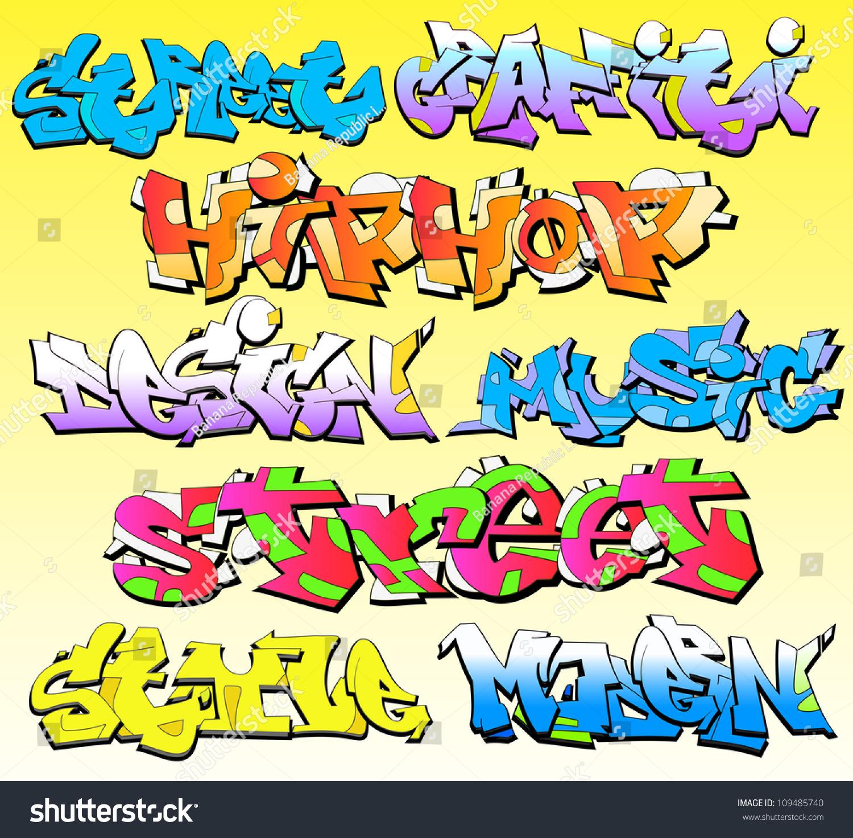 Graffiti wall vector free - Graffiti Wall Vector Font Background