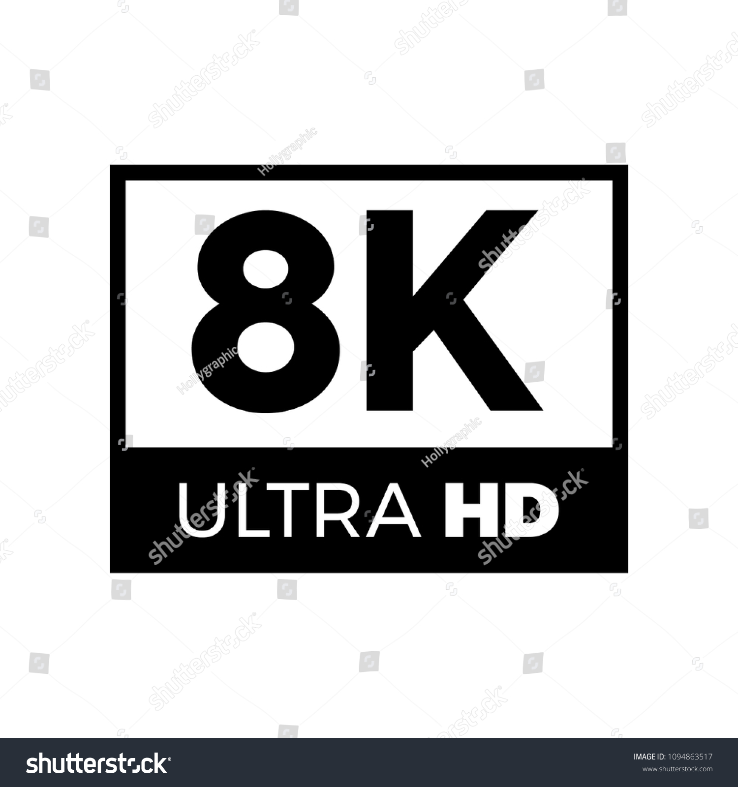 8k Ultra Hd Symbol High Definition 8k Resolution Mark Uhd 4320p