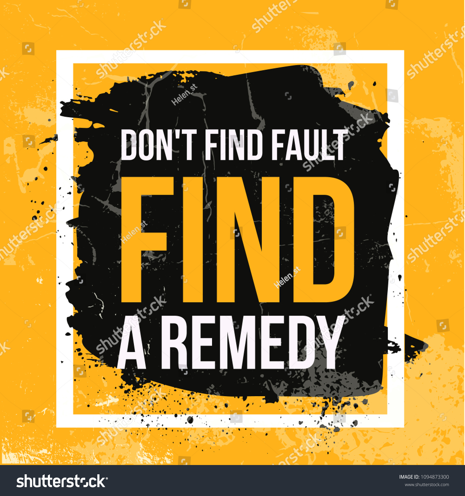 Focus On Remedies Not Faults Vector Stock Vector 1094873300 ...