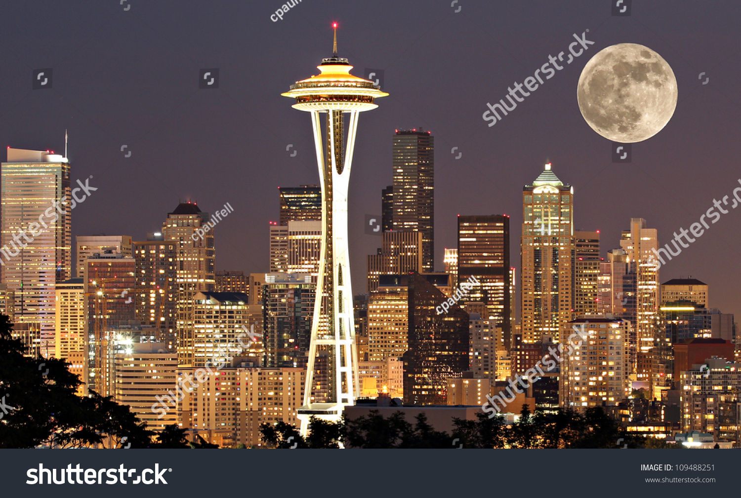 stock-photo-the-lights-come-on-in-seattl