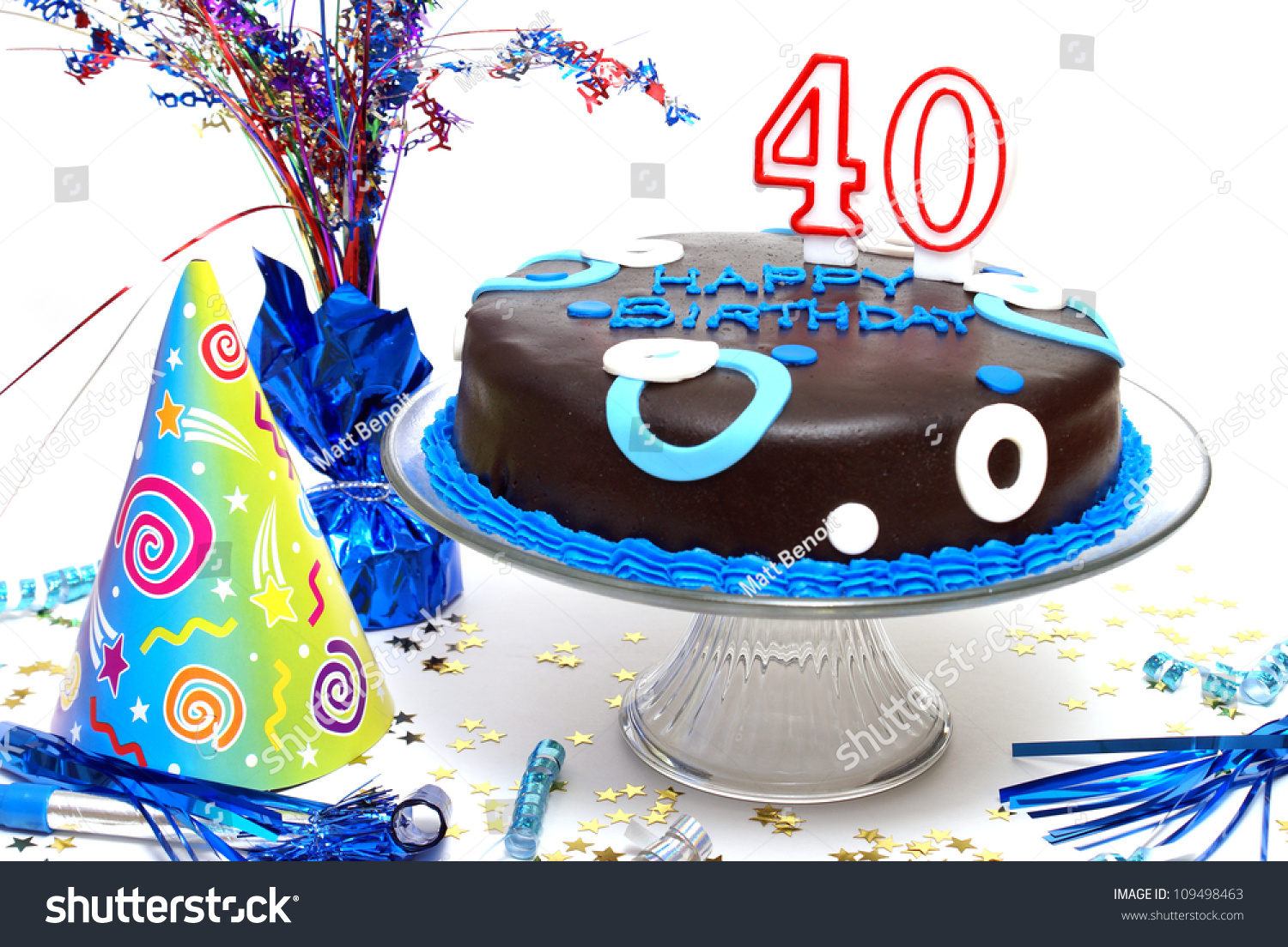 A Birthday Cake For Someone At The Big 40