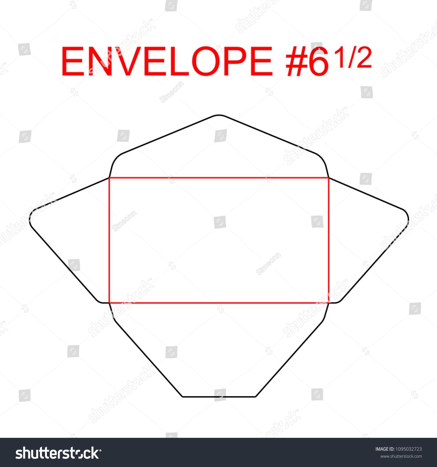 Envelope 6 12 Die Cut Template Stock Vector (Royalty Free ...