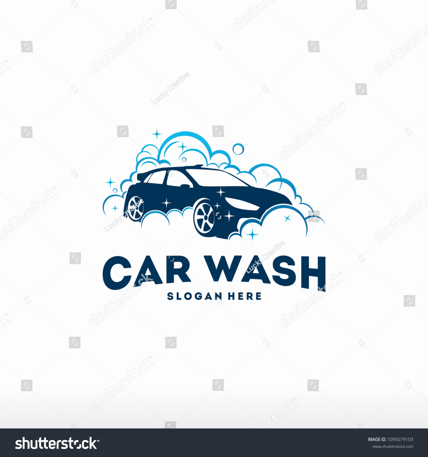 Car Wash Logo Designs Concept Vector Stock Vector Royalty Free