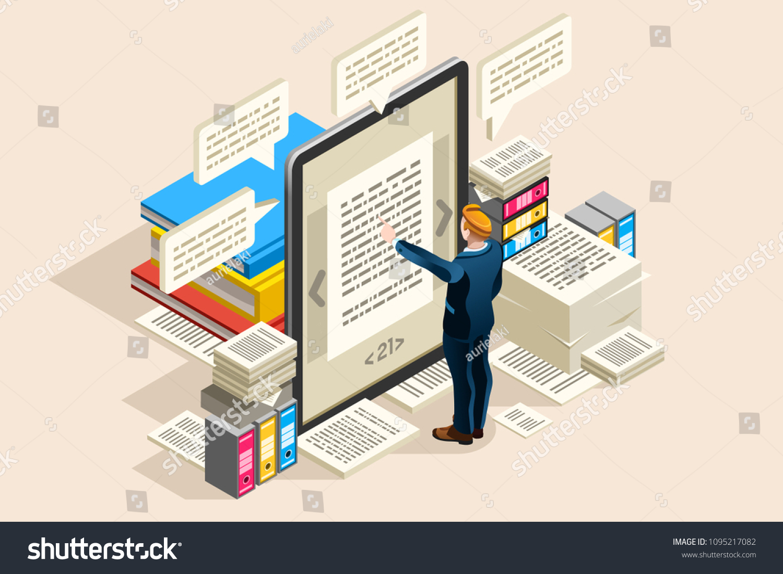 Textbook Publish Paper Online Access On Stock Vektorgrafik