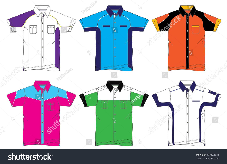 Shirt uniform design vector - Uniform Shirt Design 2