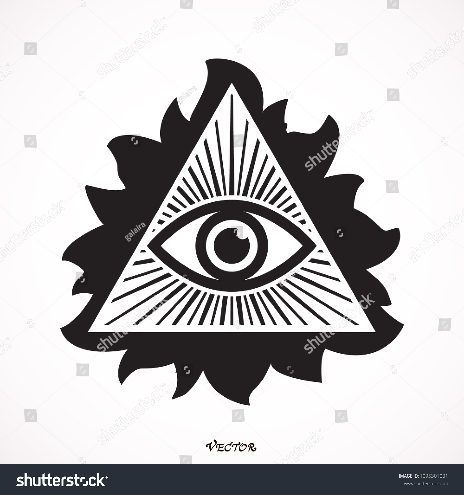 Eye Providence Masonic Symbol All Seeing Stock Vector Royalty Free