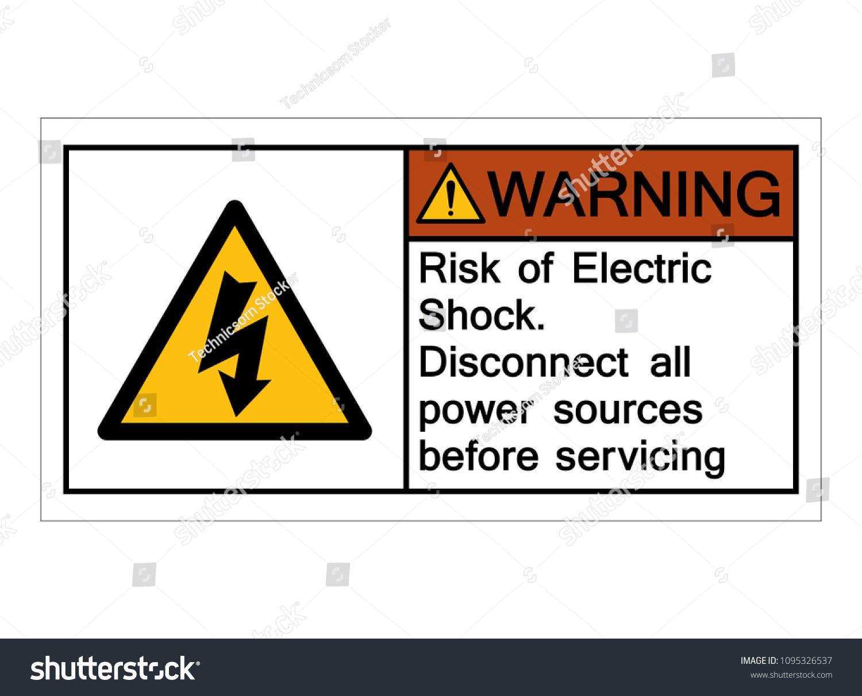 Warning Risk Electric Shock Symbol Vector Stock Vector (2018 ...