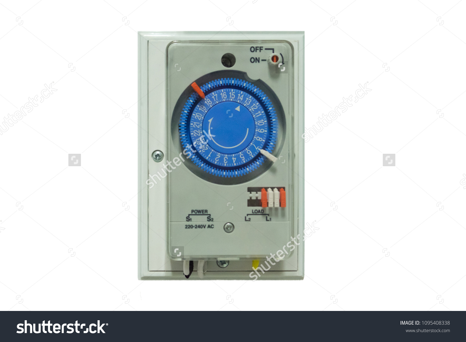 Electrical Ac Timer Plug Socket Switch Stock Photo Edit Now Power Relay Control Single Pole For Set