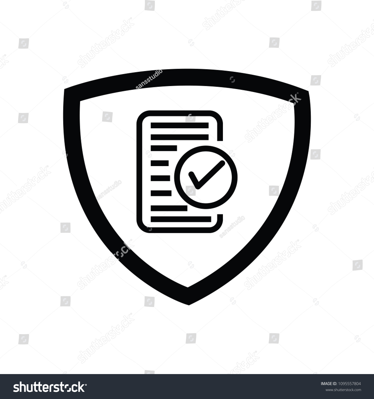 Icon Tick Data Stock Vector (Royalty Free) 1095557804