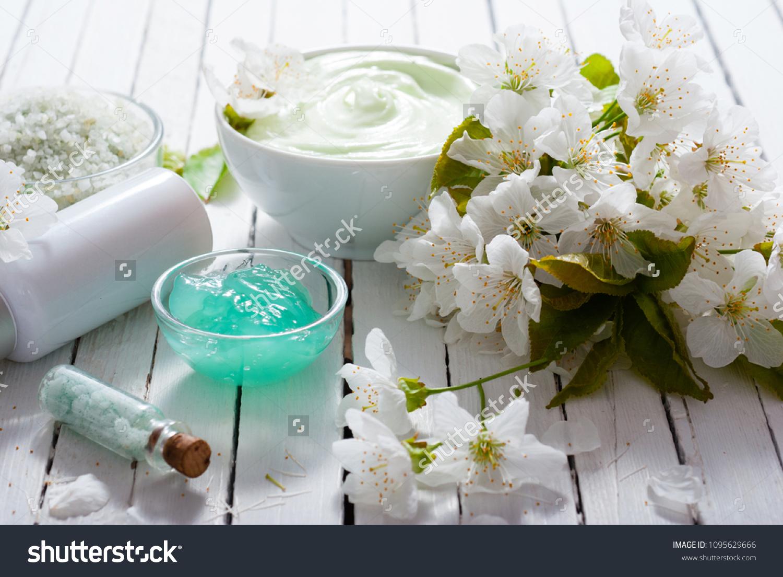 Perfume Dropper Moisturizer Lotion Bath Salt Stock Photo (Royalty ...