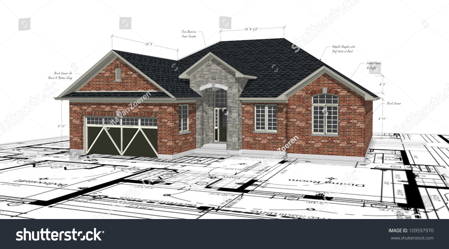 Brick house plans traditional brick ranch hwbdo63914 new american from house plans brick house - Brick house plans ...