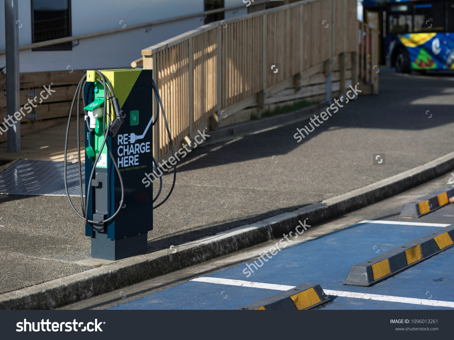 Recharging Station Electric Vehicles Domain Auckland Stock