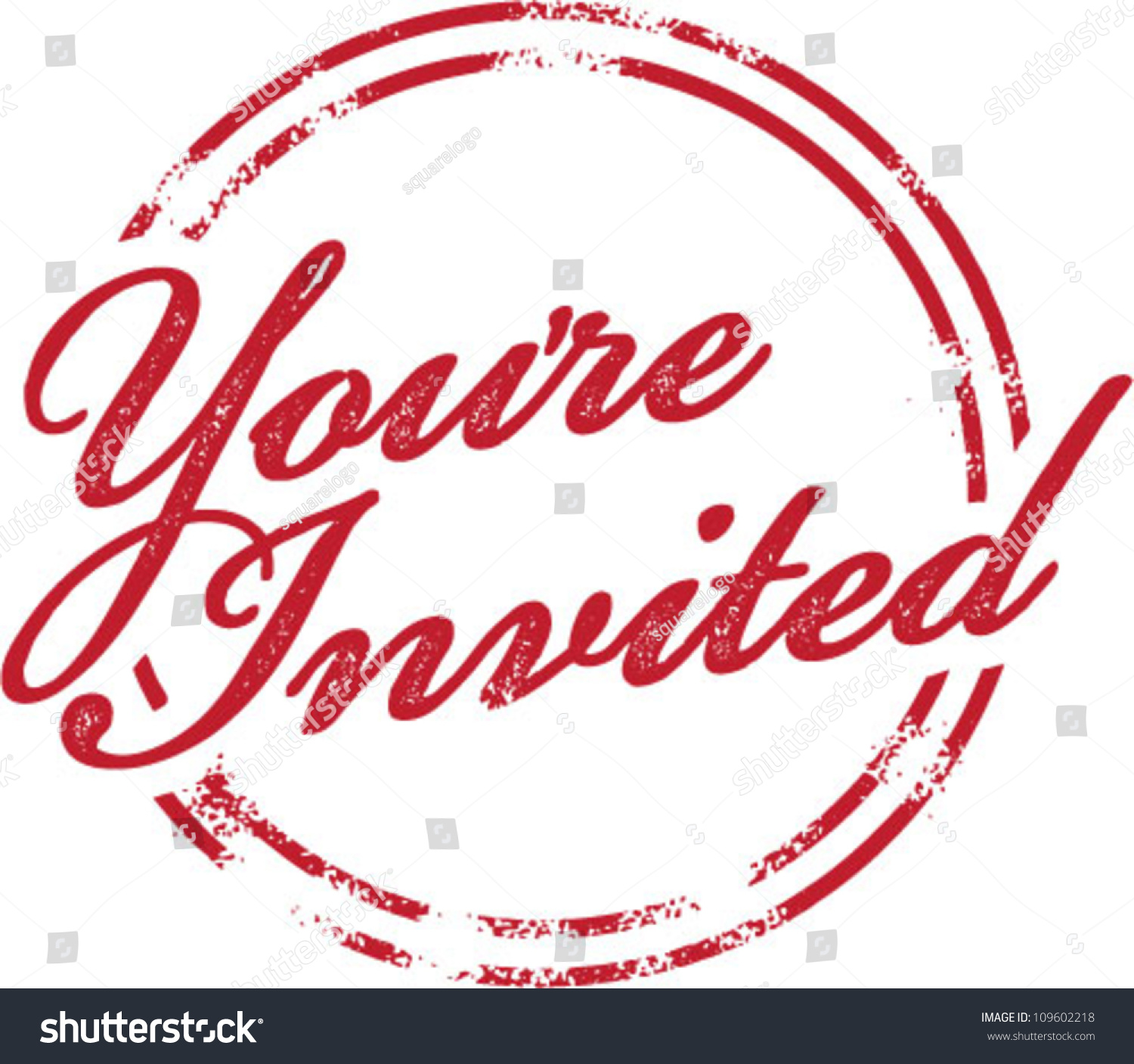 youre invited invitation rubber stamp stock vector royalty free