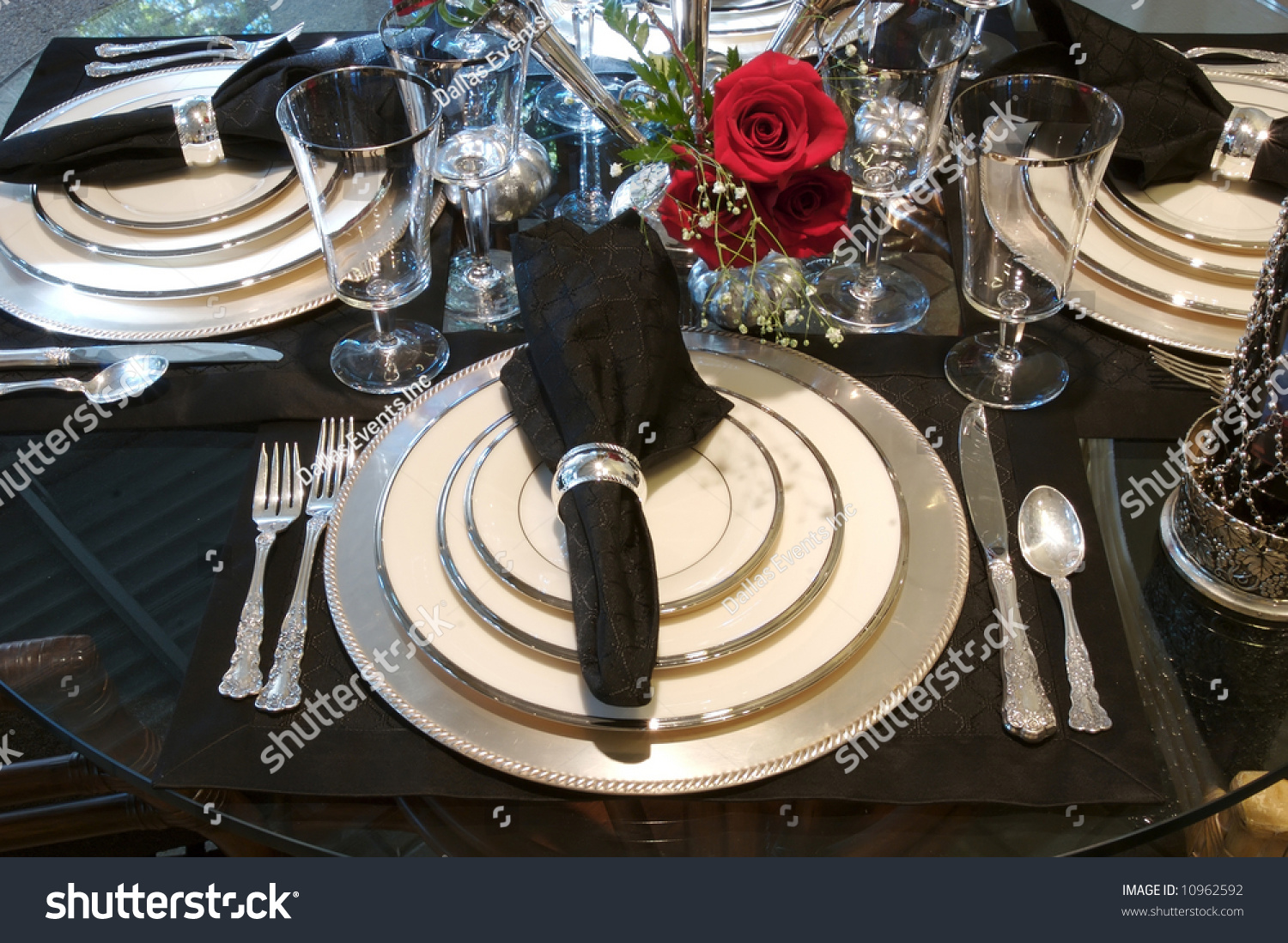 Image Formal Dining Room Place Setting Stock Photo 10962592