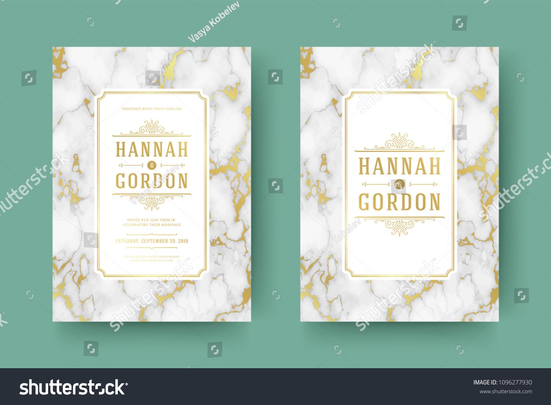 wedding save date invitation cards flourishes のベクター画像素材