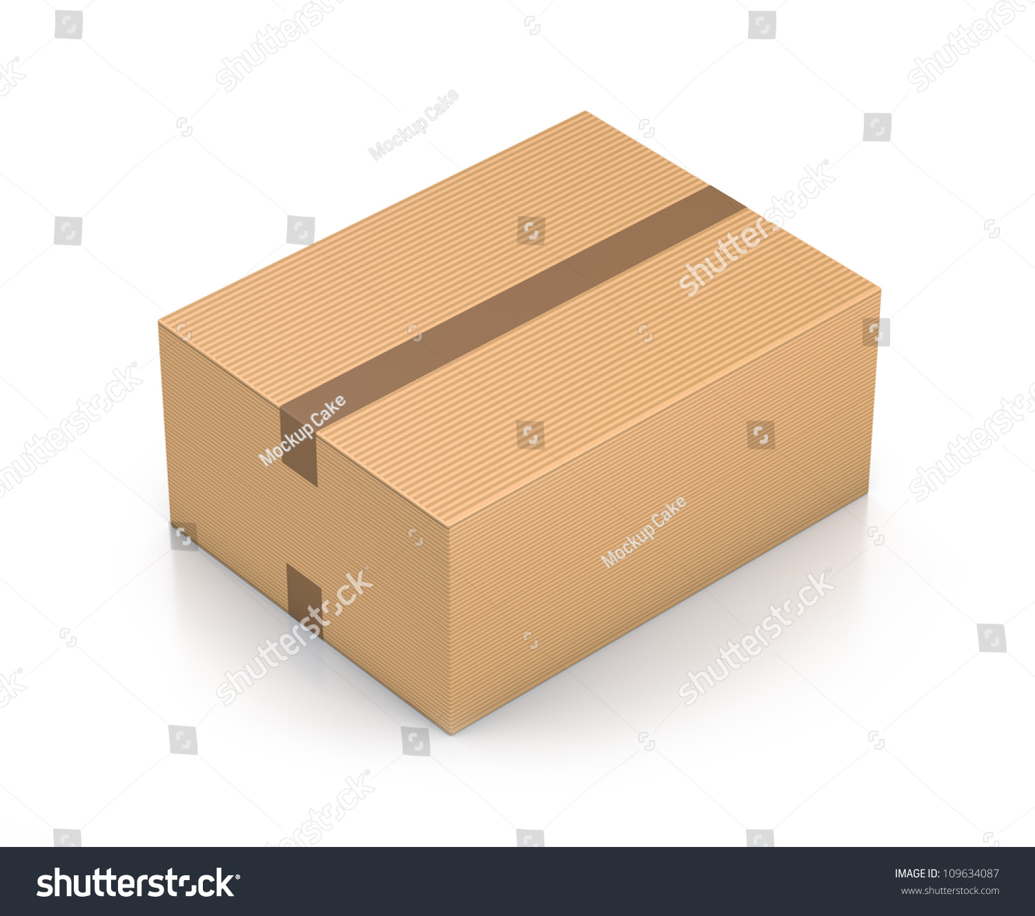Brown Sealed Rectangle Box. High Resolution 3d Illustration With ...