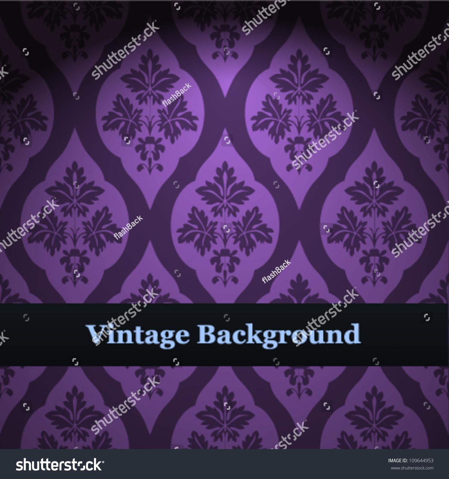 Seamless wallpaper pattern purple vector background stock vector seamless wallpaper pattern purple vector background voltagebd Gallery