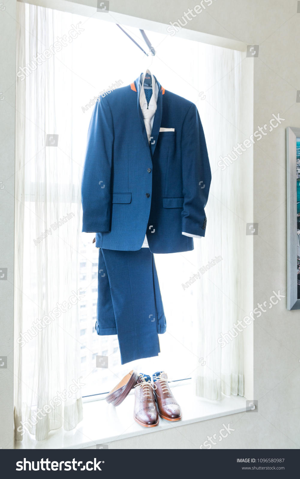 Mens New Marine Navy Blue Suit Stock Photo Edit Now 1096580987