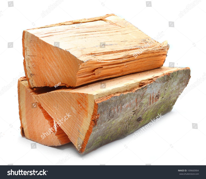 Cutting A Log : Cut log fire wood from oak tree renewable resource of a