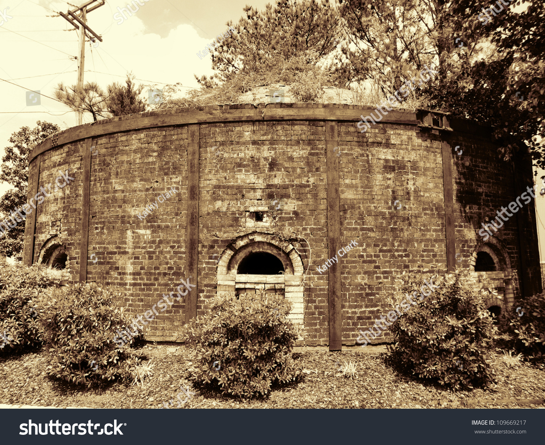 Old Fire Brick : Old antique brick kiln fire boxhistorical stock photo