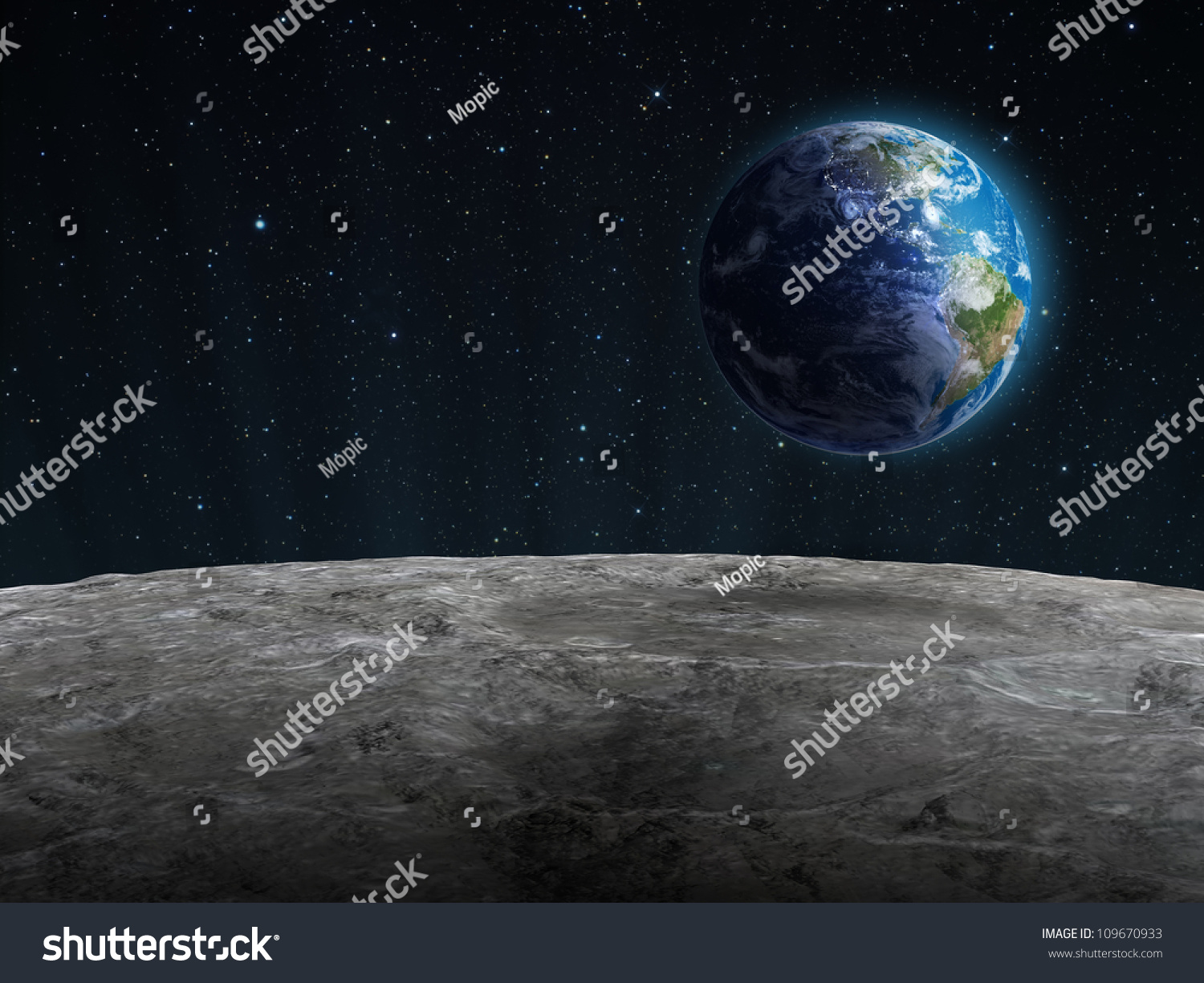 surface of moon as seen from earth - photo #4