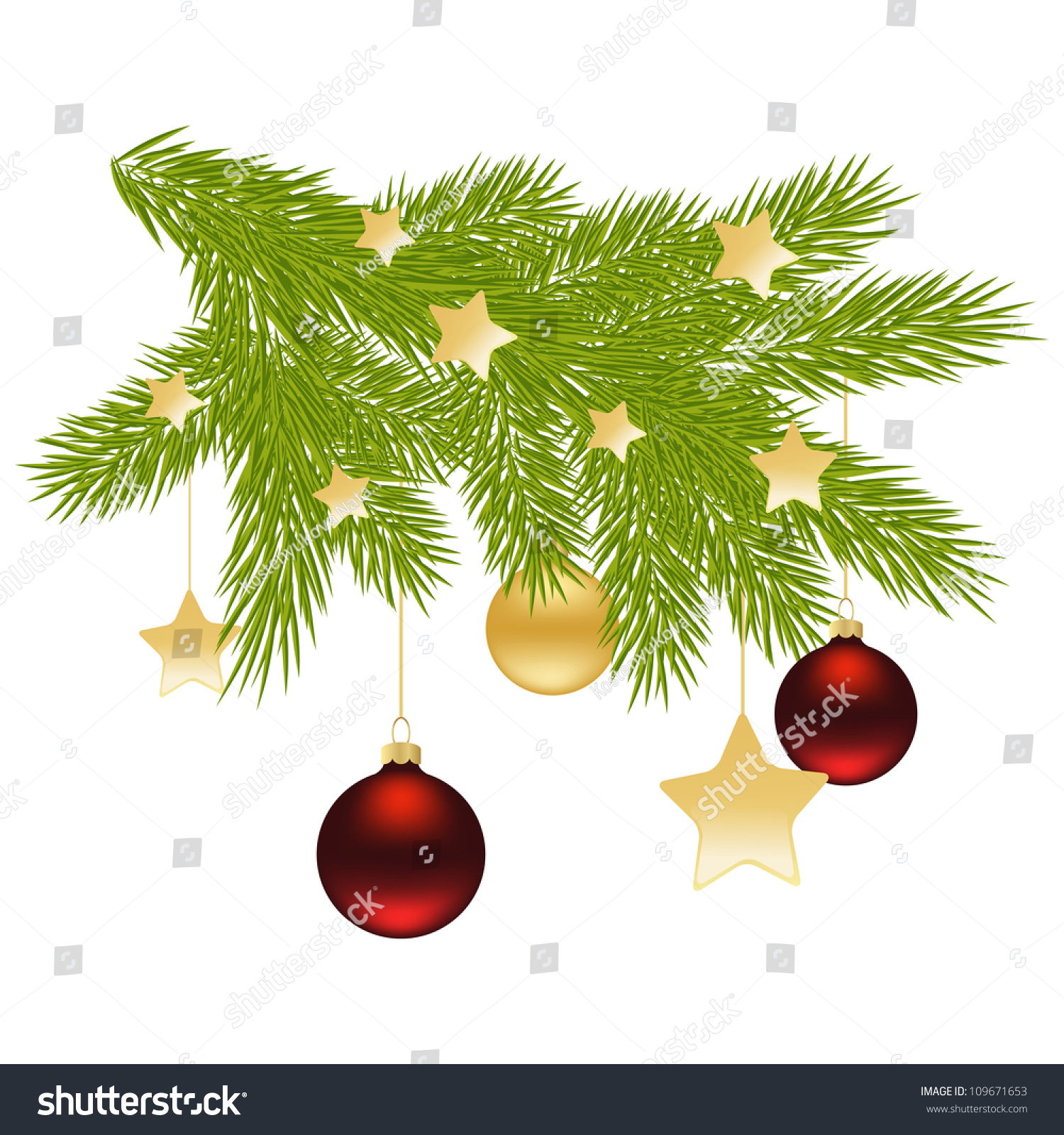 christmas tree branch vector - photo #39