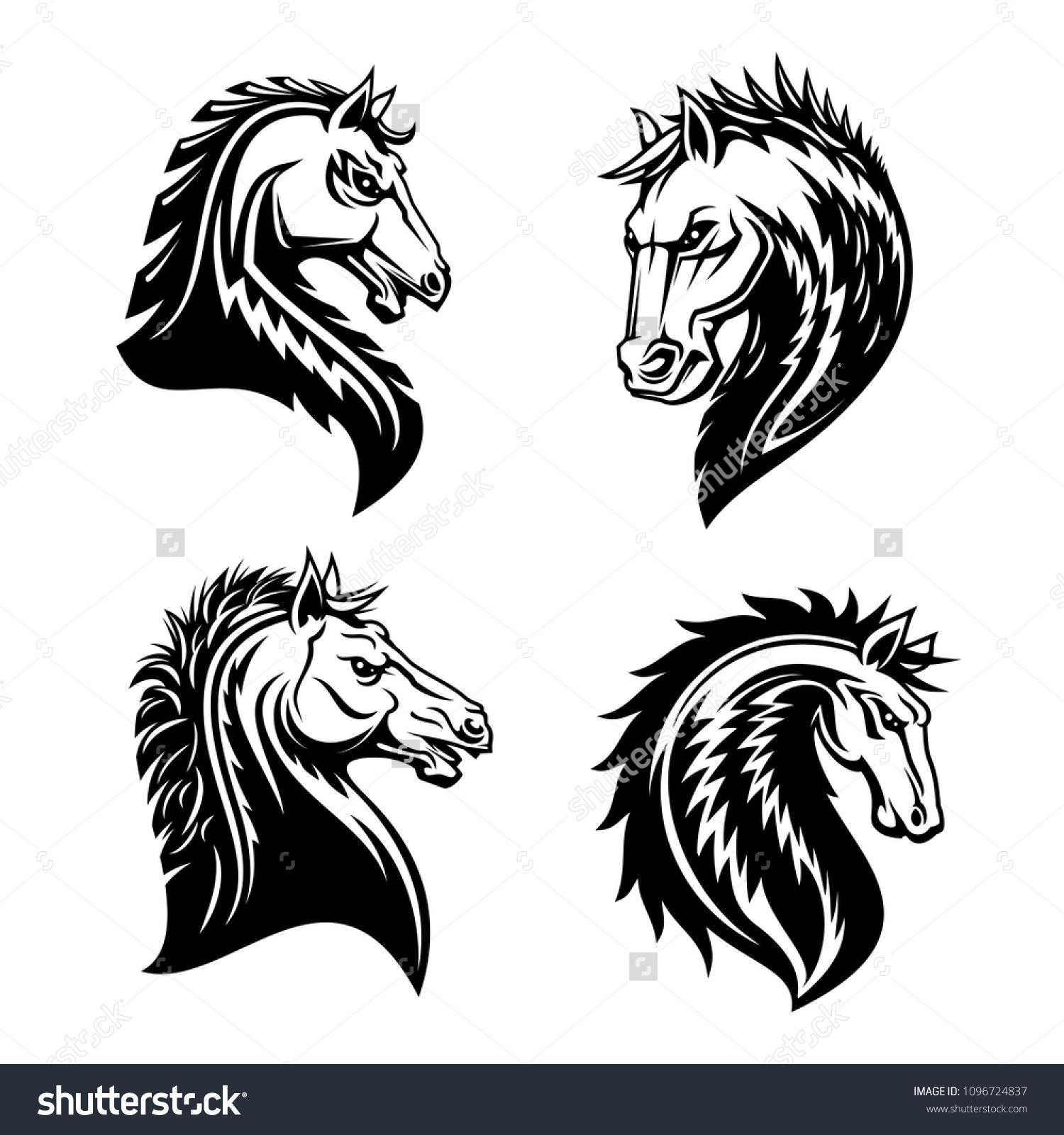 Vector De Stock Libre De Regalias Sobre Horse Head Vector Sign Horse Silhouette1096724837