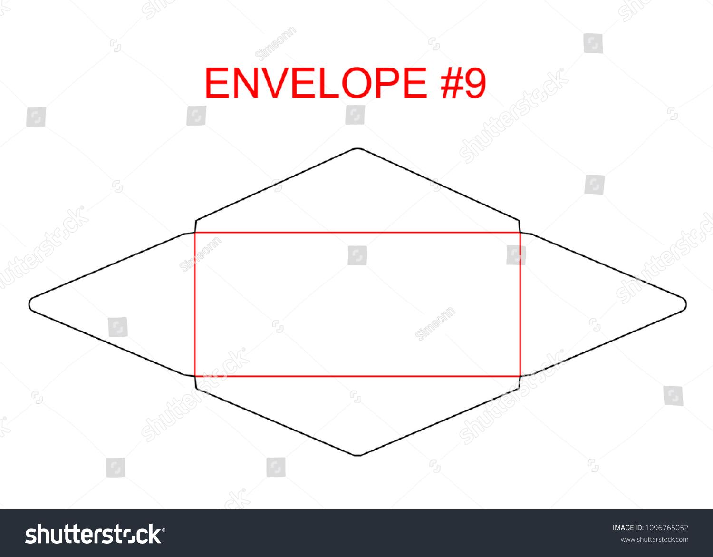 Envelope 9 Die Cut Template North Stock Vector (Royalty Free ...