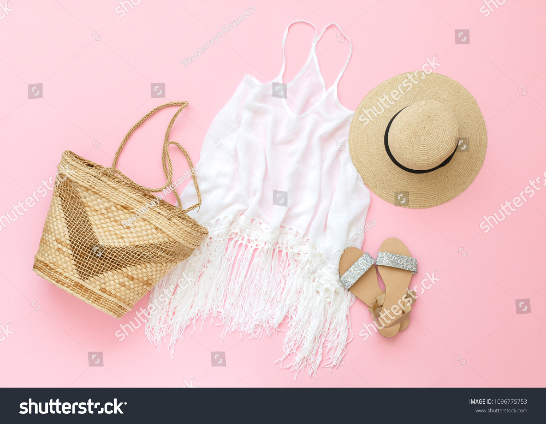d22fa2c79fc White Macrame Fringe Beach Cover Dress Stock Photo (Edit Now ...