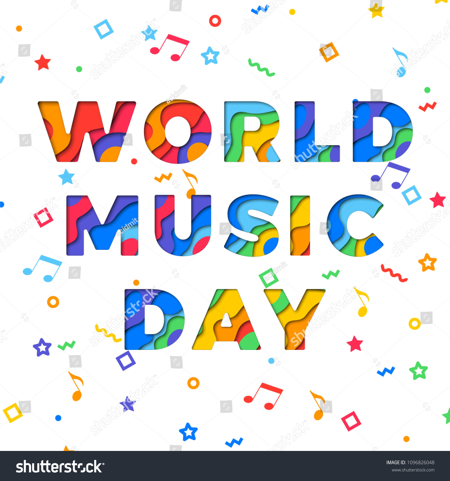 World Music Day Banner Design Layout Stock Vector Royalty Free