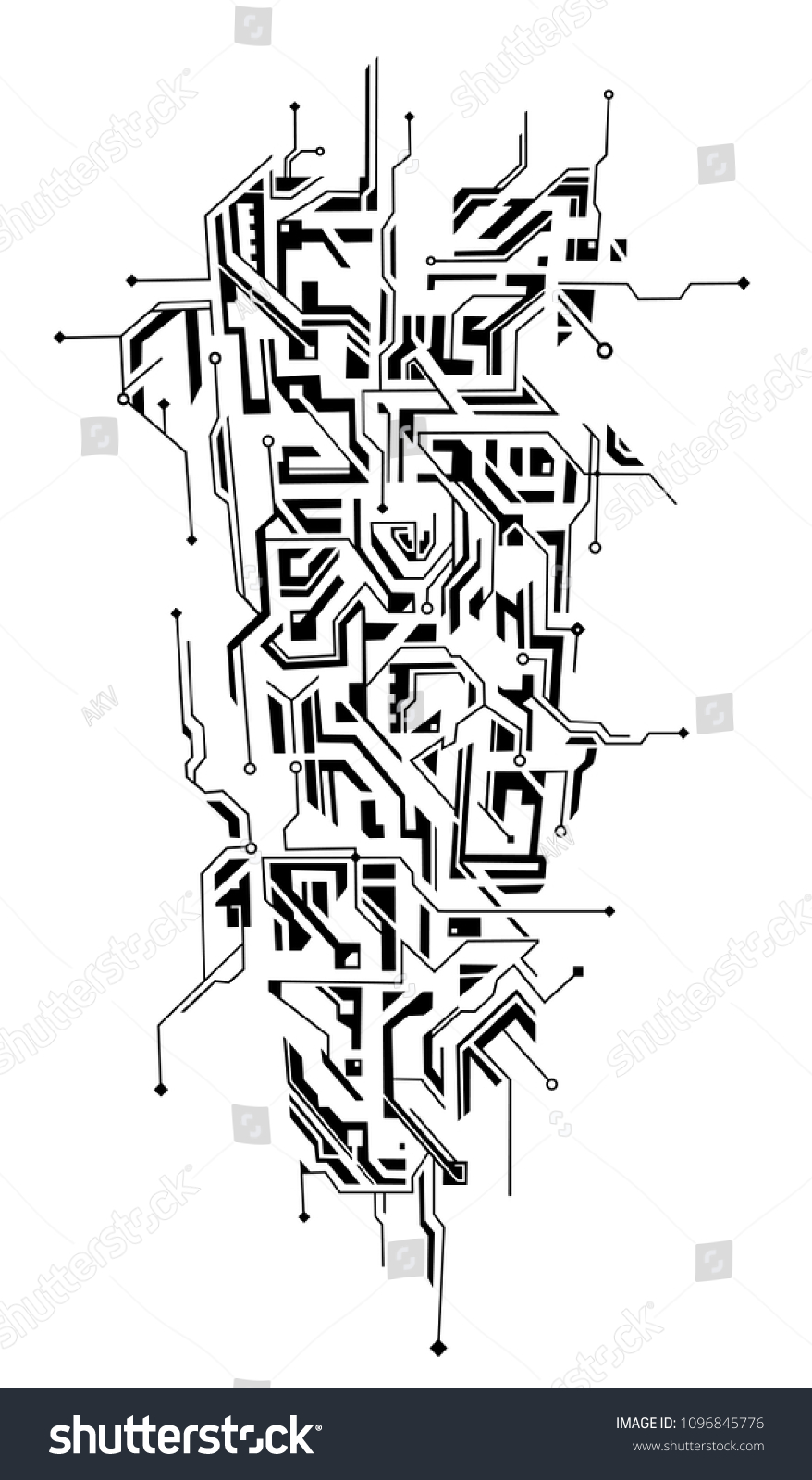 Circuit Board Abstract Background Tatoo Ideas T Circuits Stock Image 20108511 Tattoo Shaped As Ornament Good For Arm Decoration