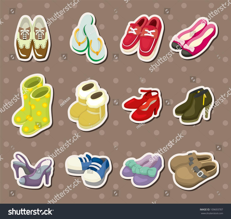 Shoe Stickers Stock Vector 109693787 : Shutterstock