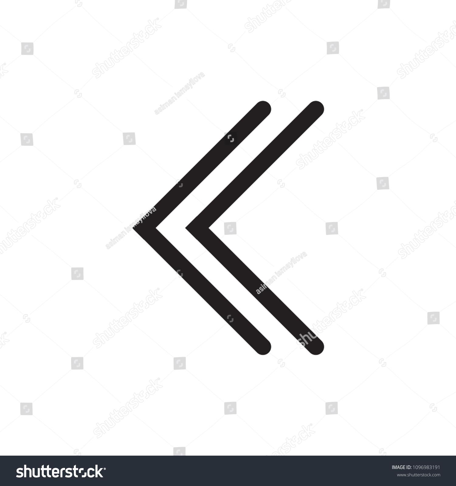 Arrow Vector Icon Scroll Down Left Stock Vector Royalty Free