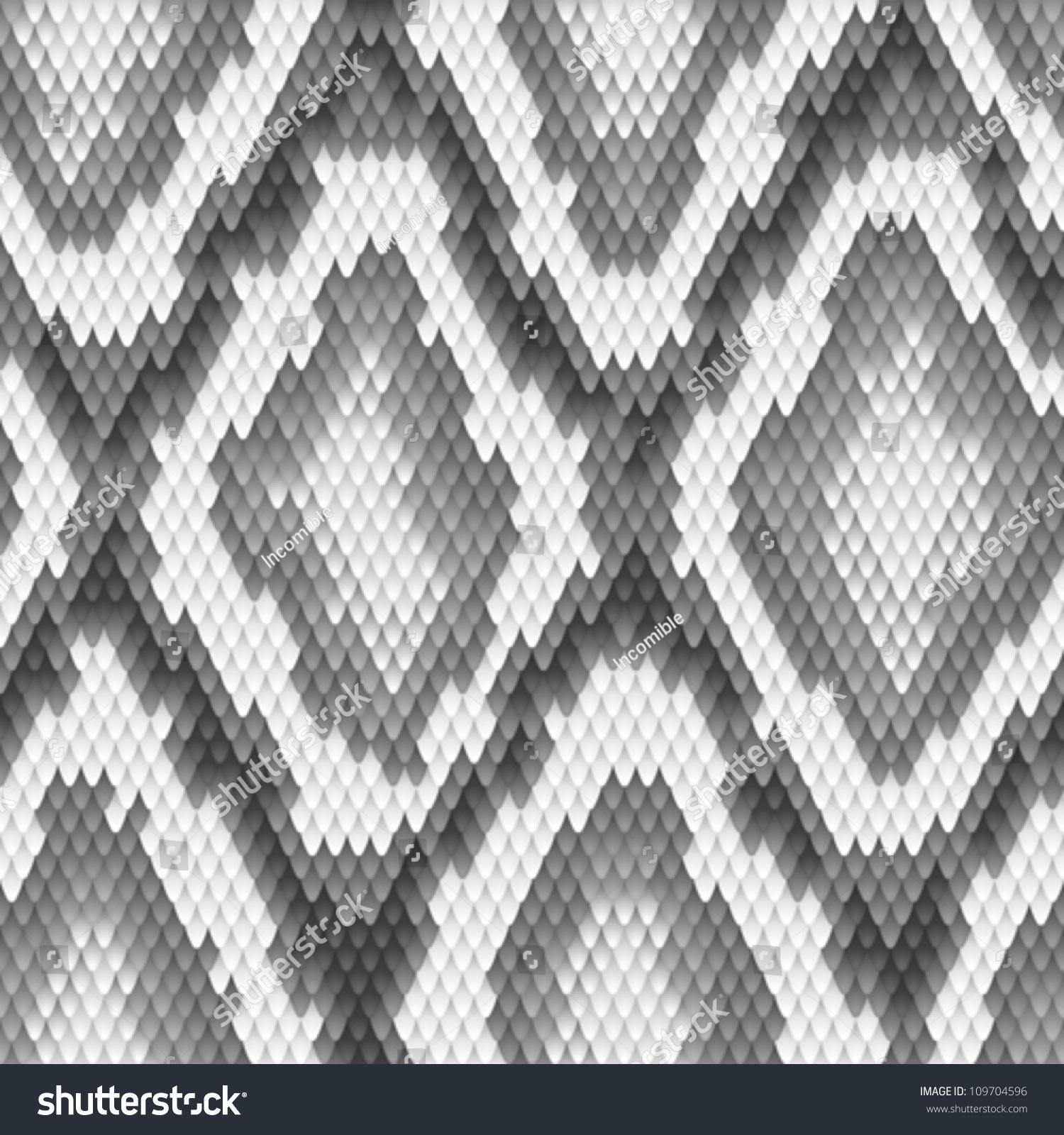 Snake skin pattern vector