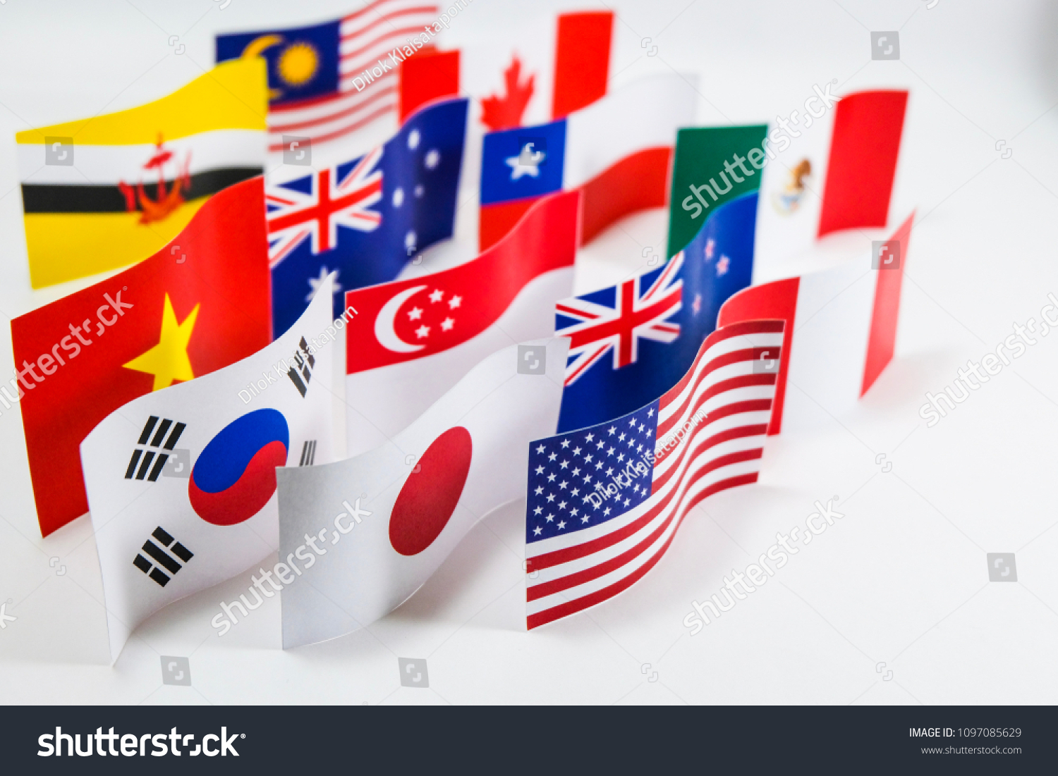 Multicolored Flag Trans Pacific Partnership Tpp Stock Photo Edit