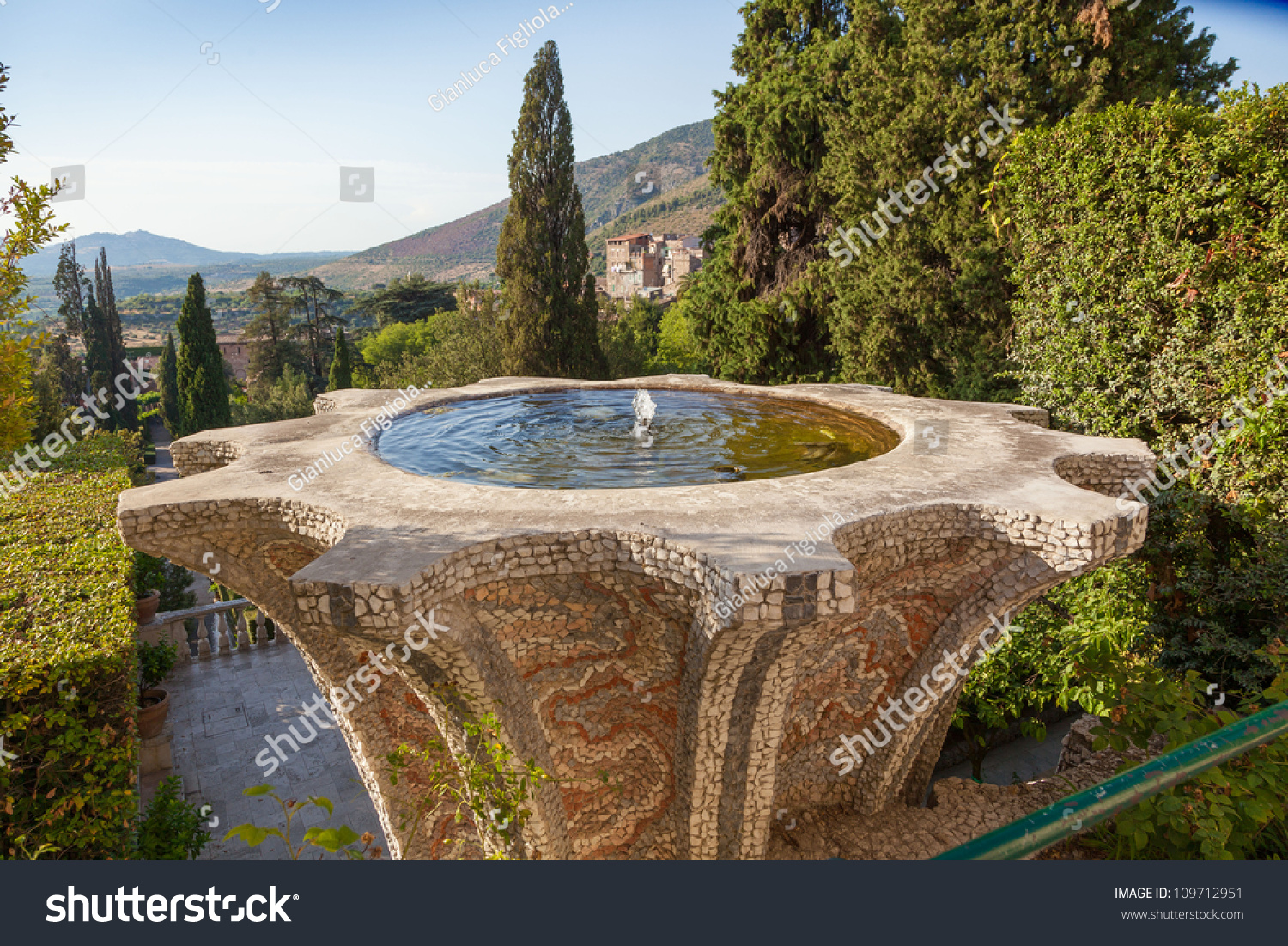 Villa D Este Fountain Garden Tivoli Italy Rome Stock Photo (Royalty ...