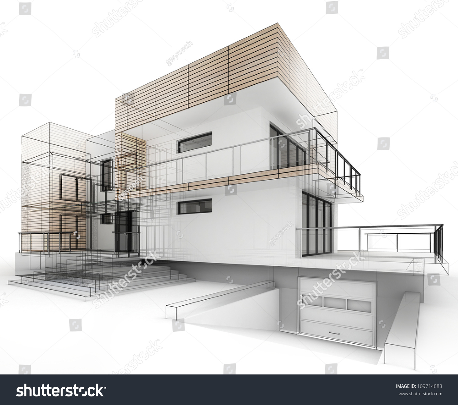 House design progress architecture drawing visualization for Architect drawing house plans