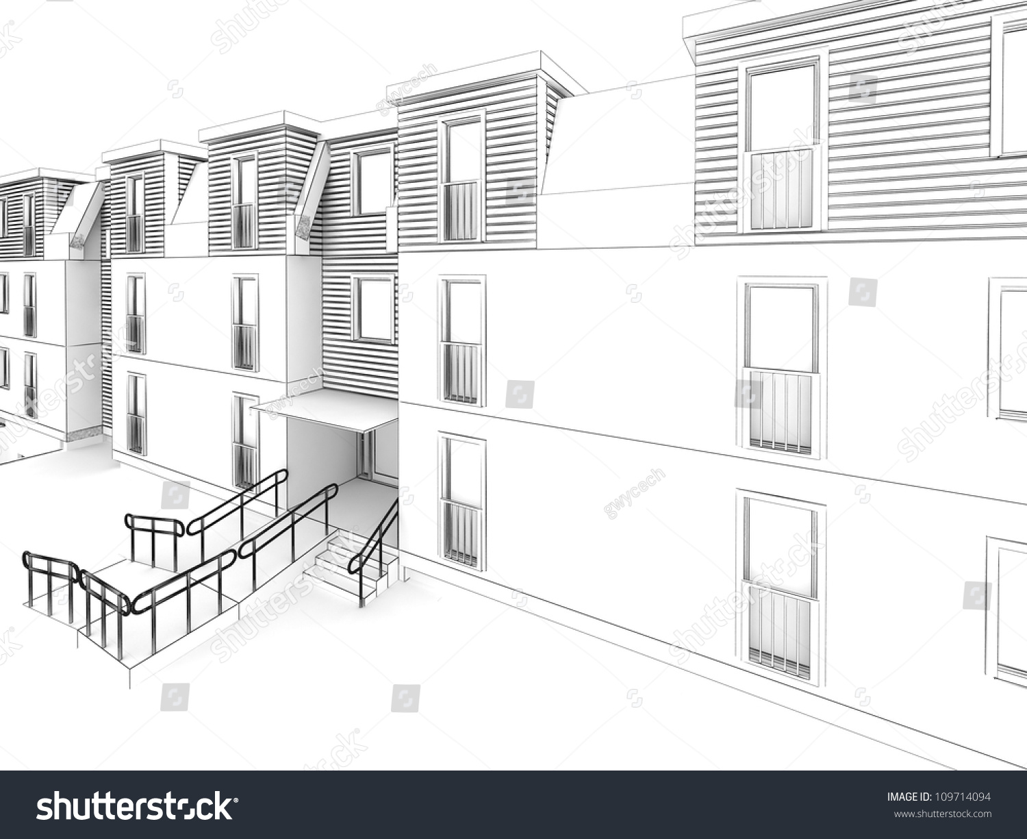 Apartment design architecture drawing