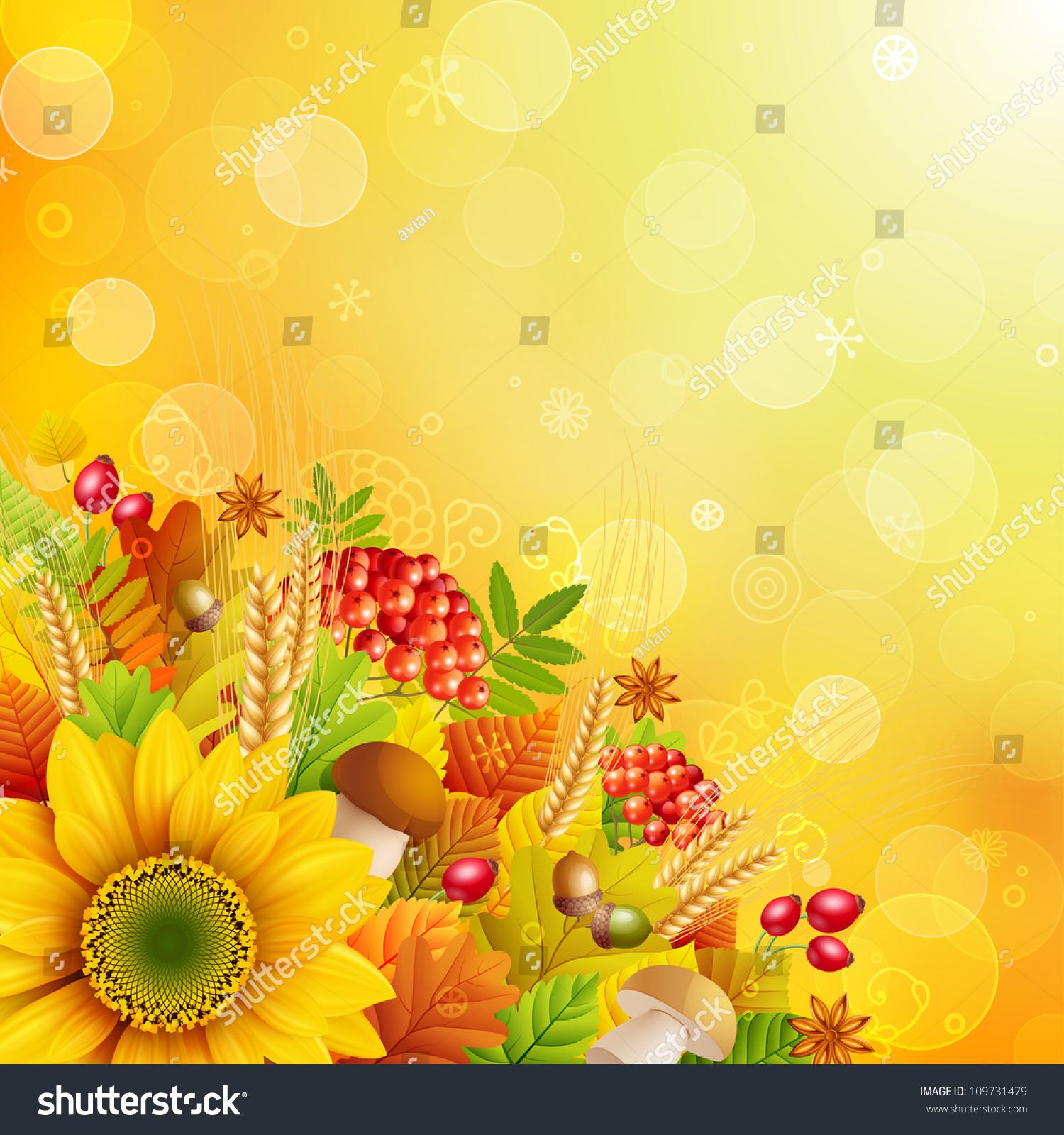 Autumn Abstract Background Colorful Leaves Check Stock
