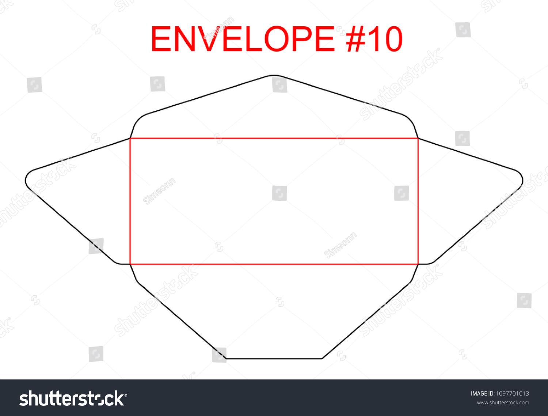 Envelope 10 Die Cut Template North Stock Vector (Royalty Free ...
