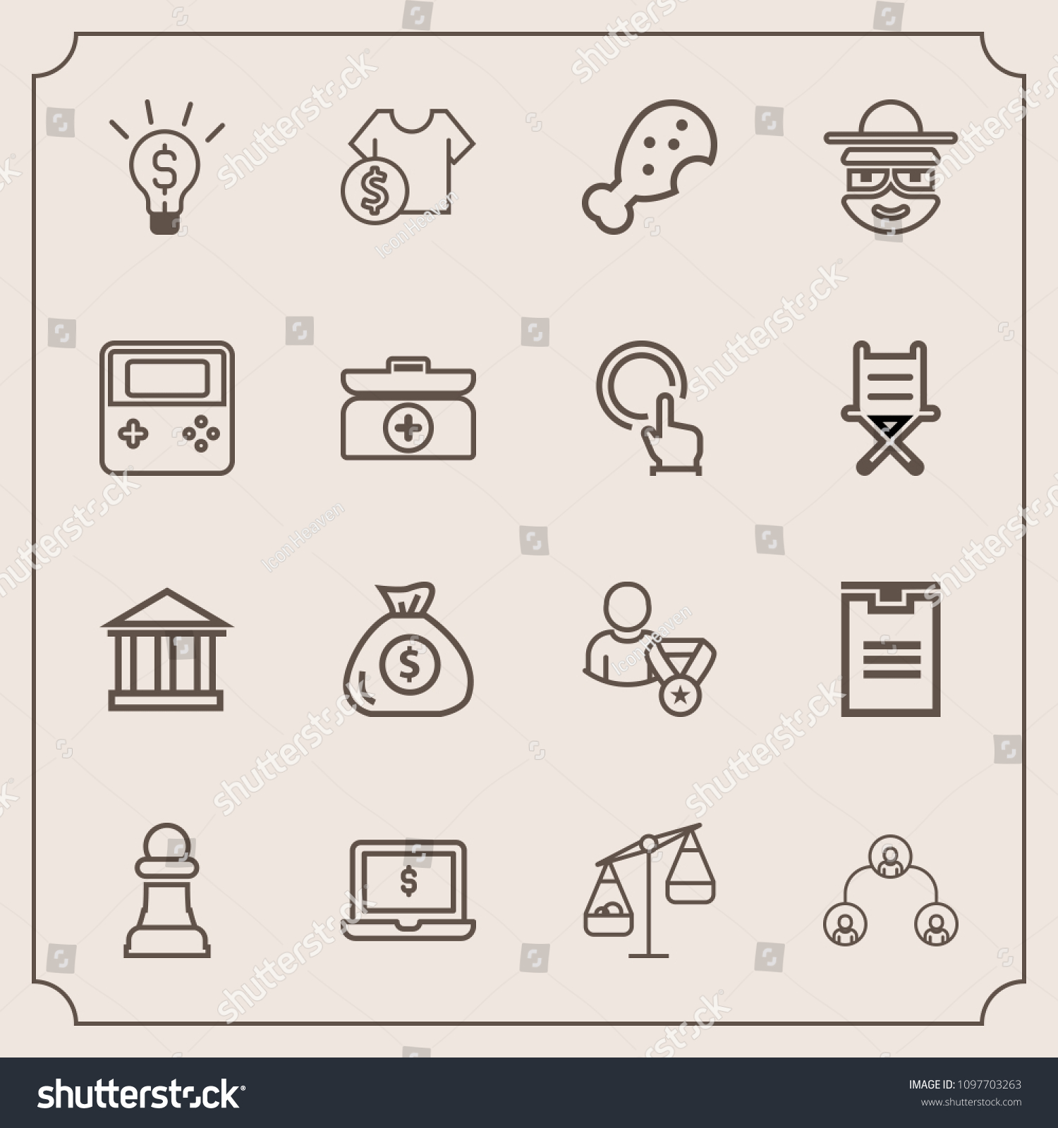 modern simple vector icon set hierarchy stock vector royalty free 1097703263 shutterstock