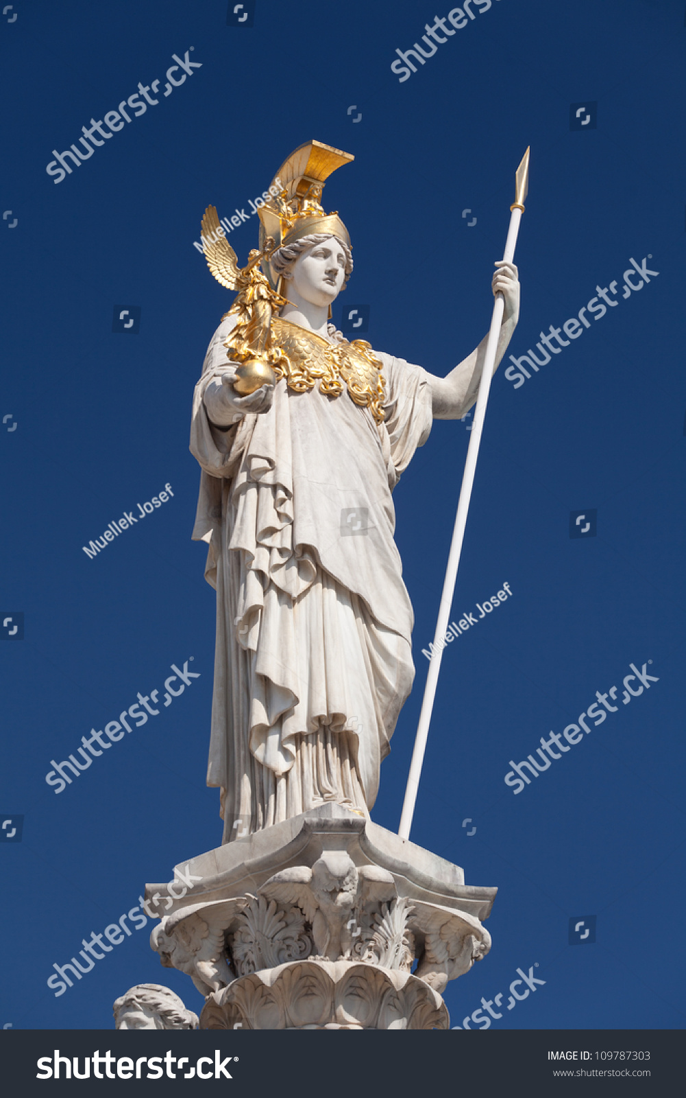 Athena goddess greek mythology symbol law stock photo 109787303 athena goddess of greek mythology symbol for law and justice biocorpaavc Images