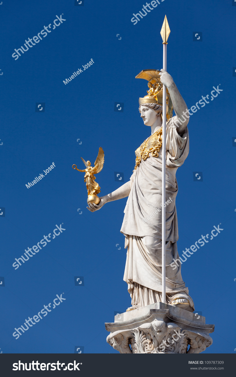 Athena Goddess Greek Mythology Symbol Law Stock Photo Edit Now