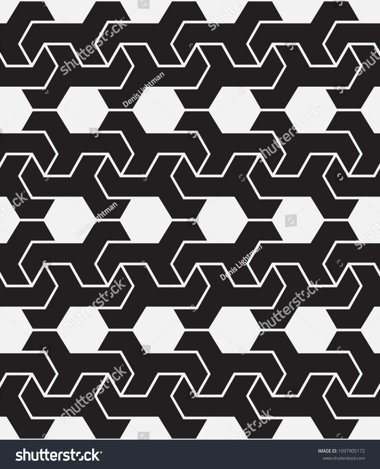 Vector Seamless Pattern Modern Stylish Texture Repetition Of Geometric Tiles