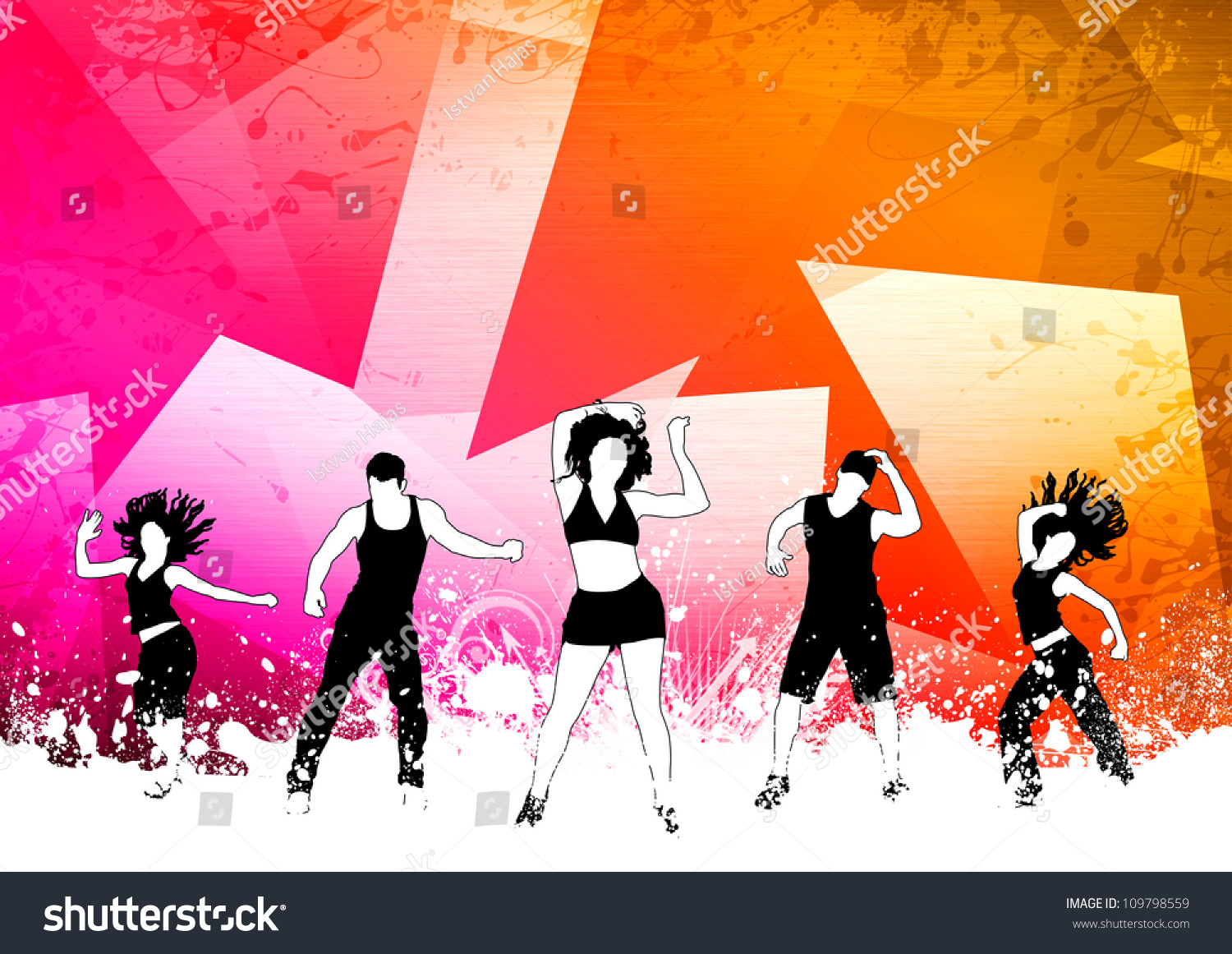 Abstract Color Zumba Fitness Dance Background Stock