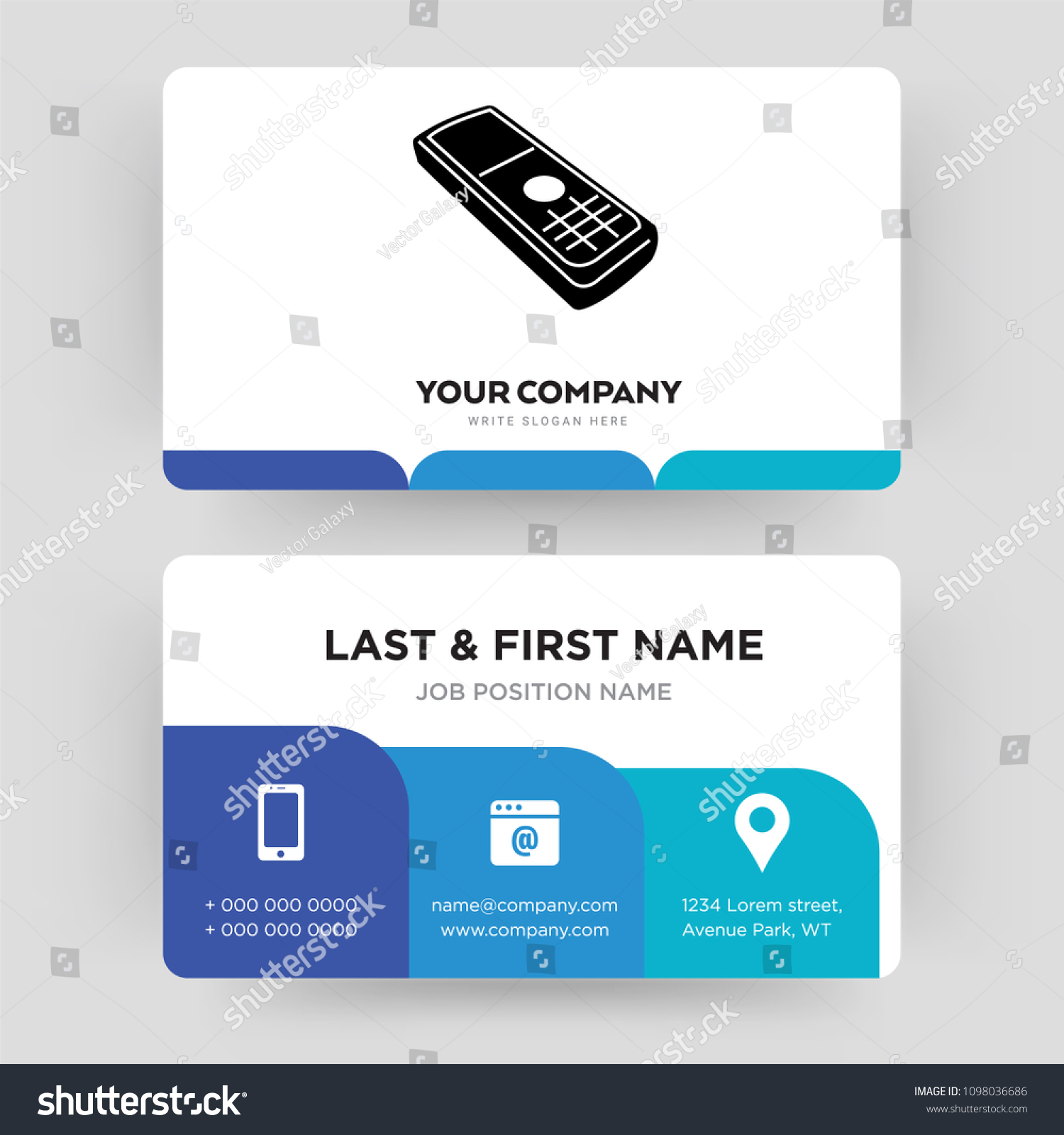 Cell Phone Business Card Design Template Stock Vector HD (Royalty ...