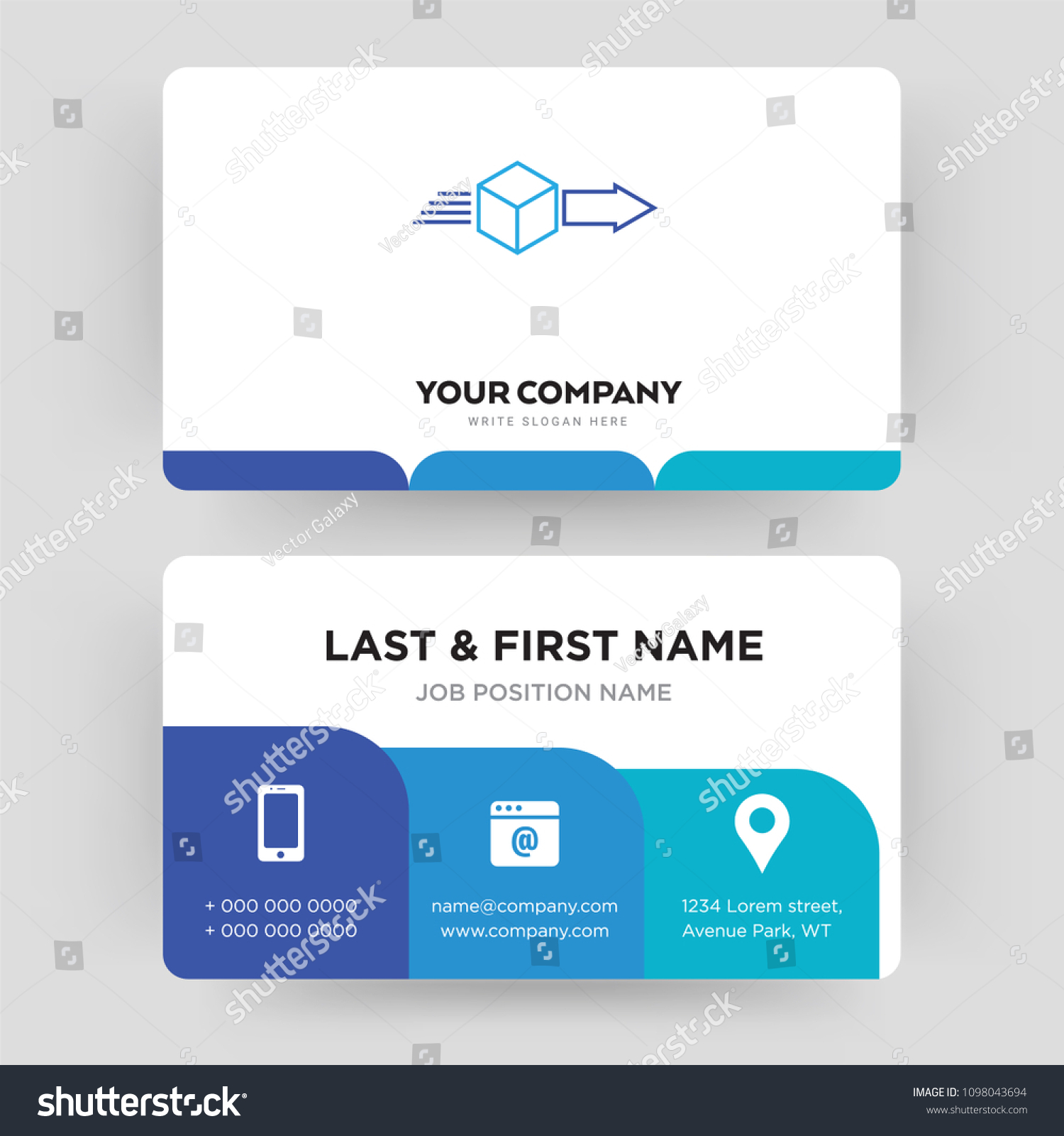 Dispatch Business Card Design Template Visiting Stock Vector ...