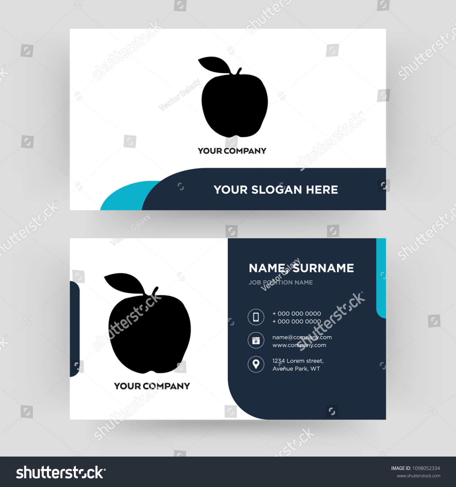 Apple Business Card Design Template Visiting Stock Photo (Photo ...